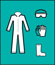 Одягніть спеціальний захисний одяг, взуття та спеціальне захисне спорядження