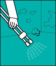Змийте застарілий бруд водою під тиском